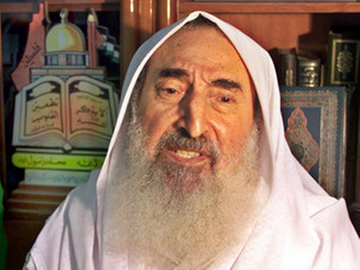 Šejch Ahmad Ismail Jásin, zakladatel organizace Hamas.