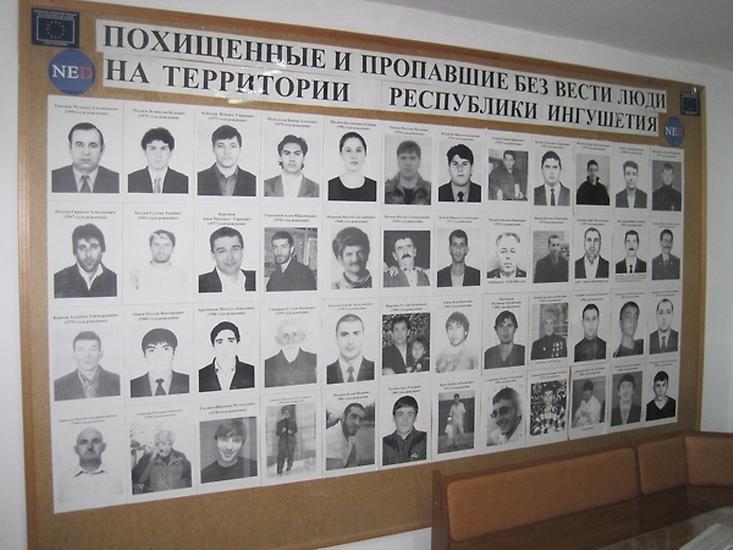 Někteří z lidí, kteří v Ingušsku zmizeli od roku 2002