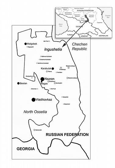 Mapa Ingušska