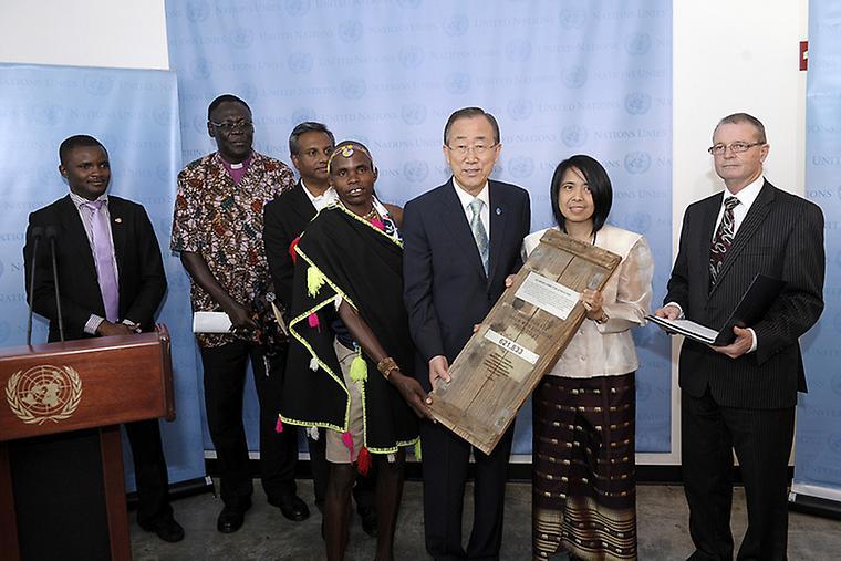 Ban Ki-moon se zástupci Control Arms