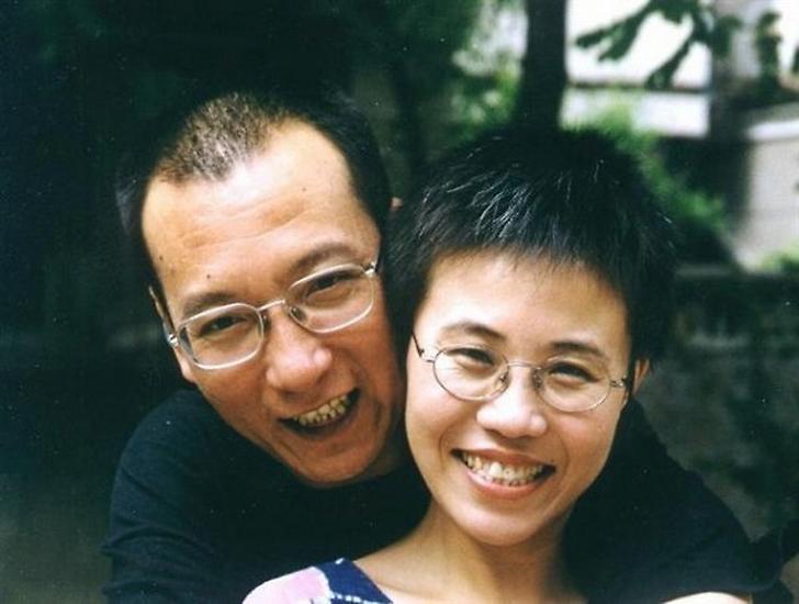 Liu Siao-po se svou ženou