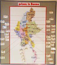 Mapa barmských vězení